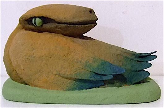 lézard-canard 14,5X25X11 cm